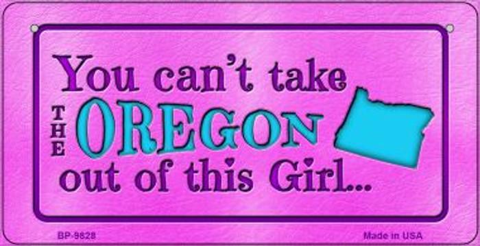 Oregon Girl Novelty Metal Bicycle Plate BP-9828