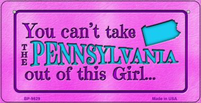 Pennsylvania Girl Novelty Metal Bicycle Plate BP-9829