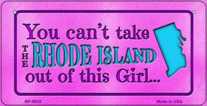 Rhode Island Girl Novelty Metal Bicycle Plate BP-9830