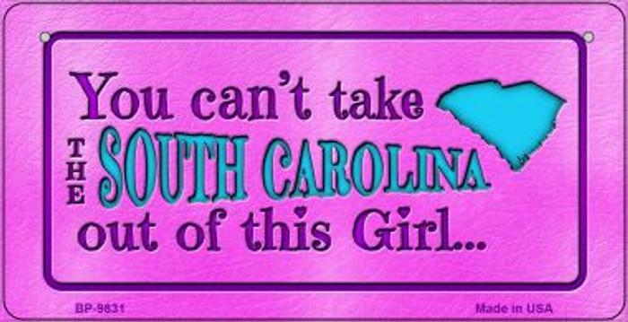 South Carolina Girl Novelty Metal Bicycle Plate BP-9831