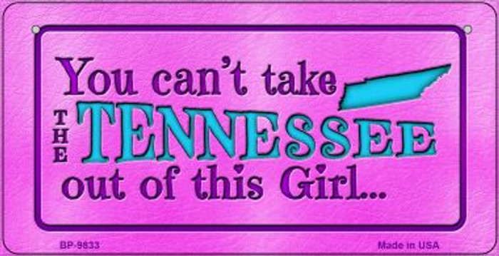 Tennessee Girl Novelty Metal Bicycle Plate BP-9833