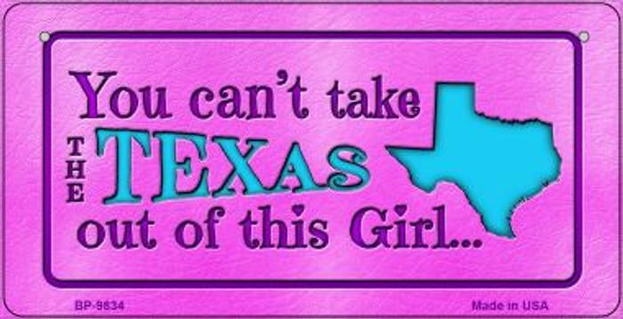 Texas Girl Novelty Metal Bicycle Plate BP-9834