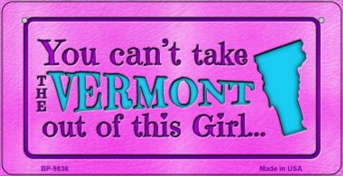 Vermont Girl Novelty Metal Bicycle Plate BP-9836