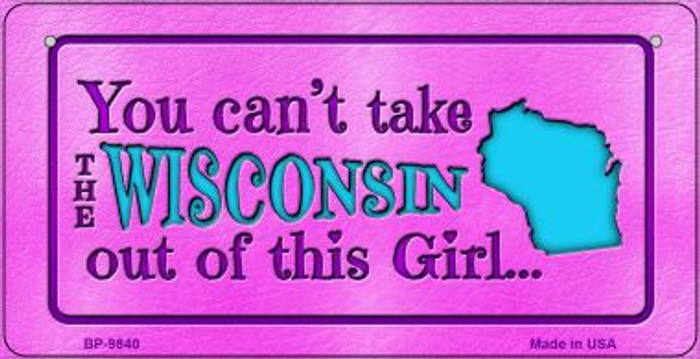 Wisconsin Girl Novelty Metal Bicycle Plate BP-9840