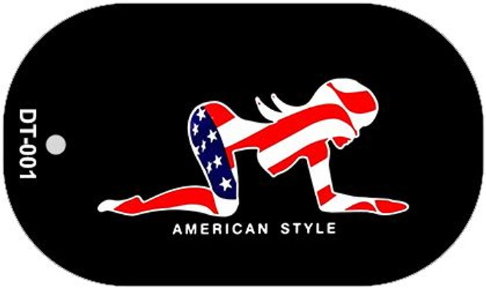 American Style Sexy Flag Pose Novelty Metal Dog Tag Necklace DT-001