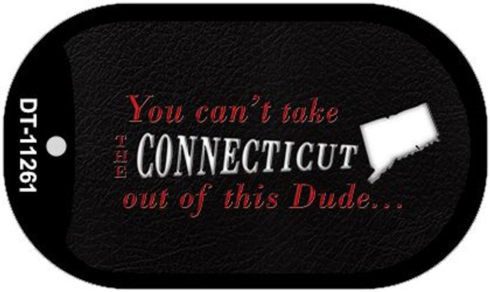 Connecticut Dude Novelty Metal Dog Tag Necklace DT-11261
