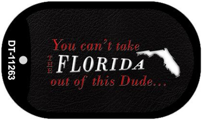 Florida Dude Novelty Metal Dog Tag Necklace DT-11263
