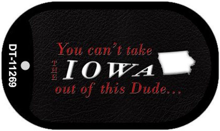 Iowa Dude Novelty Metal Dog Tag Necklace DT-11269