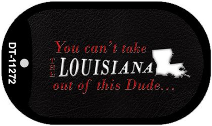 Louisiana Dude Novelty Metal Dog Tag Necklace DT-11272