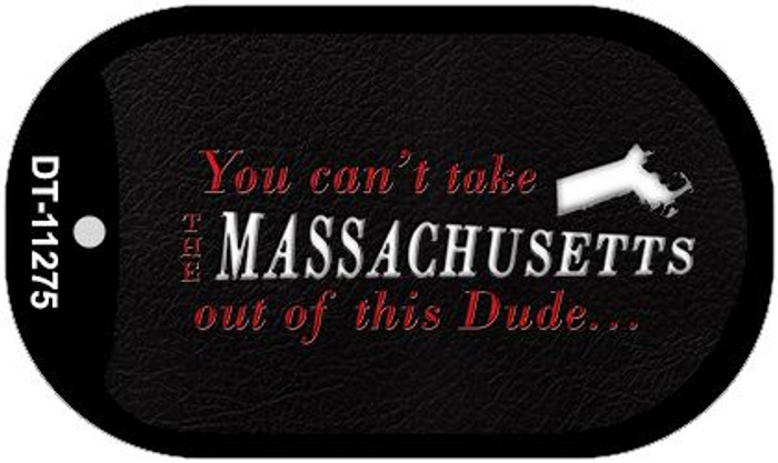 Massachusetts Dude Novelty Metal Dog Tag Necklace DT-11275