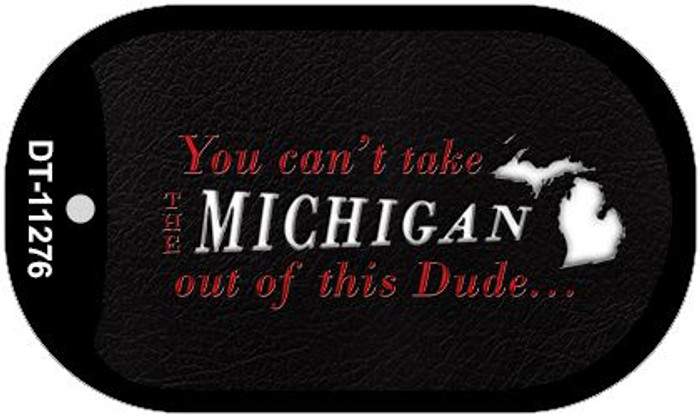 Michigan Dude Novelty Metal Dog Tag Necklace DT-11276