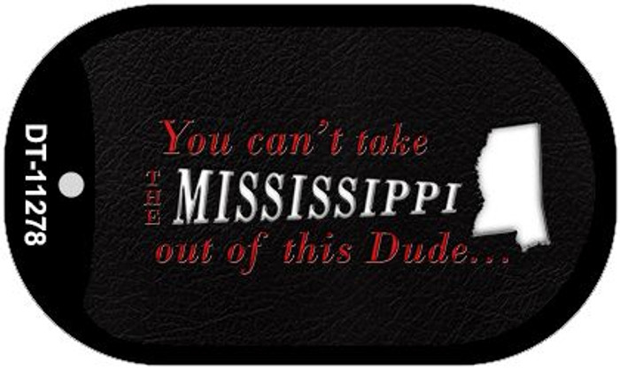 Mississippi Dude Novelty Metal Dog Tag Necklace DT-11278