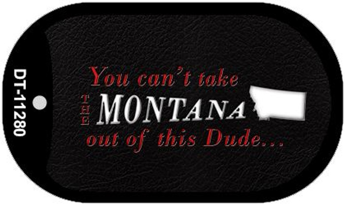 Montana Dude Novelty Metal Dog Tag Necklace DT-11280