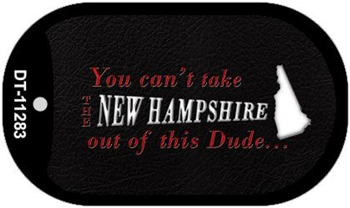 New Hampshire Dude Novelty Metal Dog Tag Necklace DT-11283