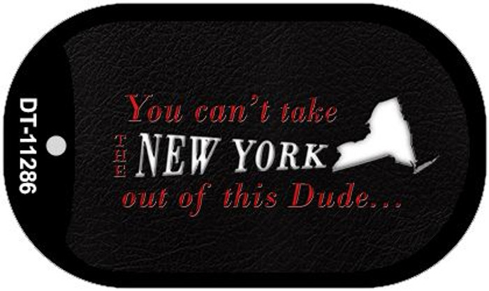 New York Dude Novelty Metal Dog Tag Necklace DT-11286