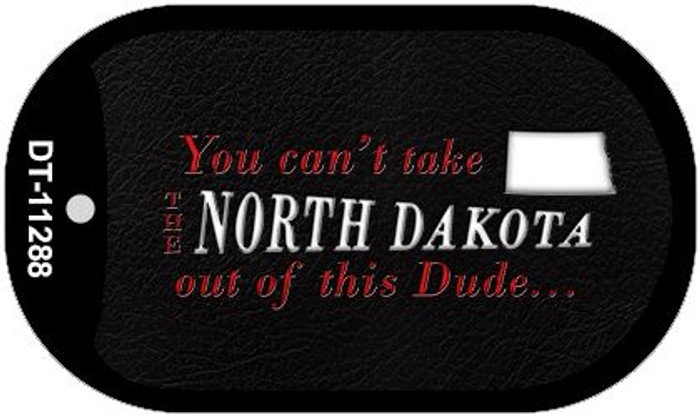 North Dakota Dude Novelty Metal Dog Tag Necklace DT-11288