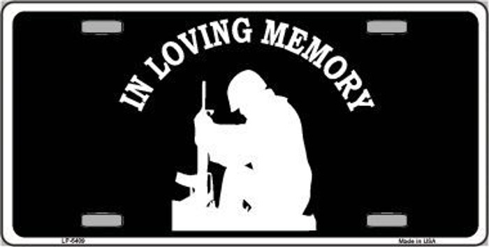 In Loving Memory Sitting Novelty Metal License Plate