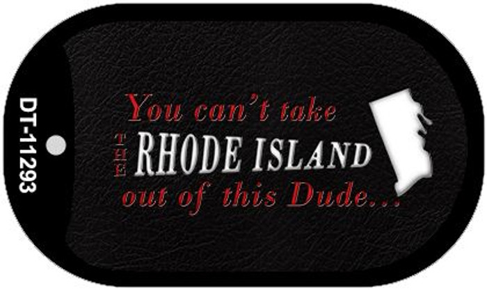Rhode Island Dude Novelty Metal Dog Tag Necklace DT-11293