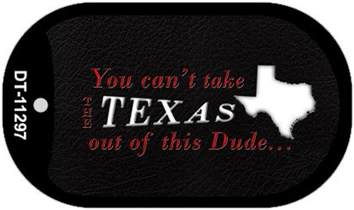 Texas Dude Novelty Metal Dog Tag Necklace DT-11297