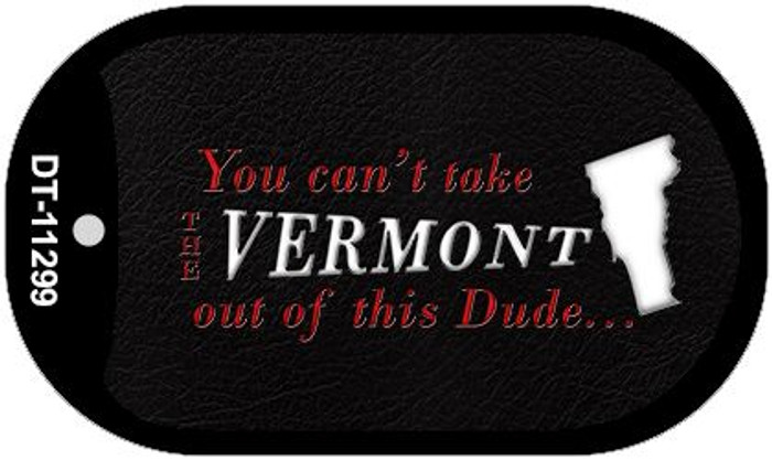 Vermont Dude Novelty Metal Dog Tag Necklace DT-11299