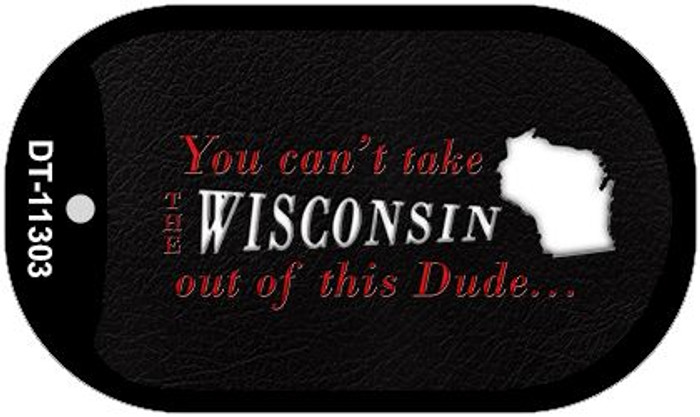 Wisconsin Dude Novelty Metal Dog Tag Necklace DT-11303