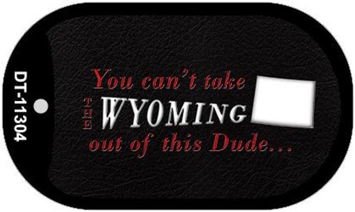 Wyoming Dude Novelty Metal Dog Tag Necklace DT-11304