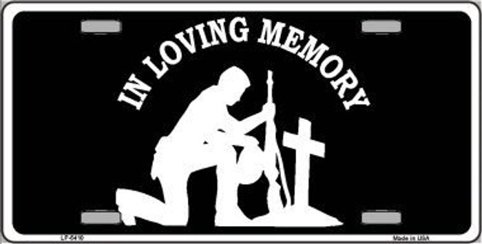 In Loving Memory Cross Novelty Metal License Plate