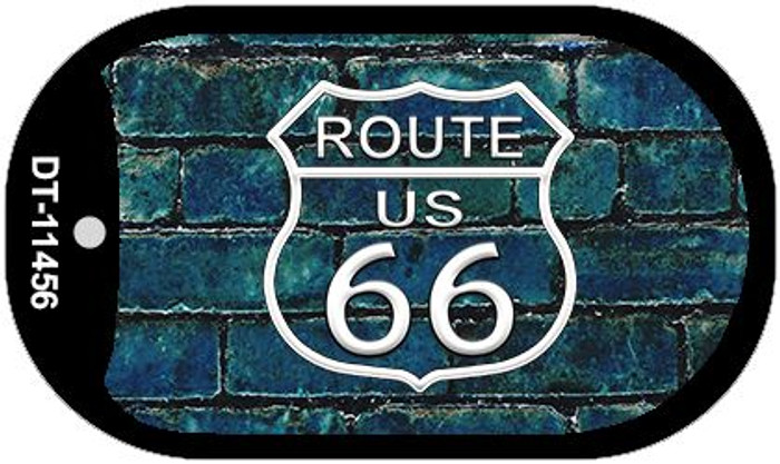 Route 66 Blue Brick Wall Novelty Metal Dog Tag Necklace DT-11456