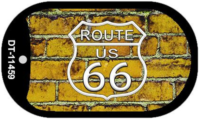 Route 66 Yellow Brick Wall Novelty Metal Dog Tag Necklace DT-11459