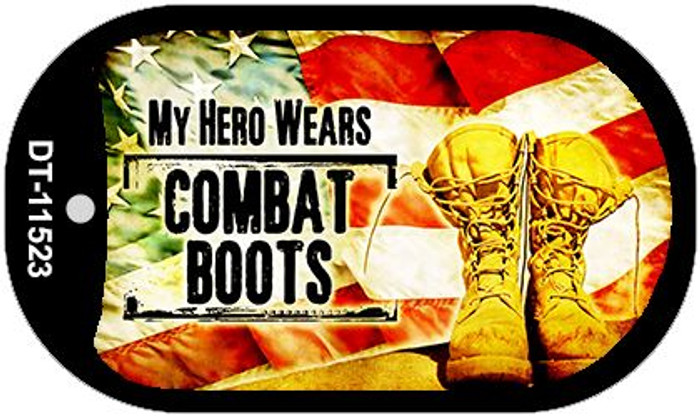 My Hero Wears Combat Boots Novelty Metal Dog Tag Necklace DT-11523
