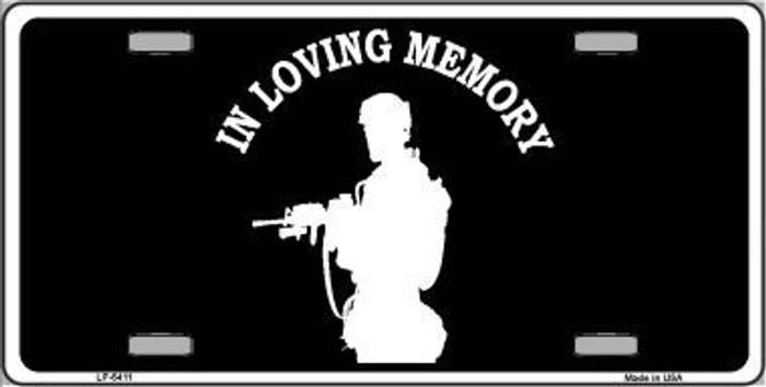 In Loving Memory Standing Novelty Metal License Plate