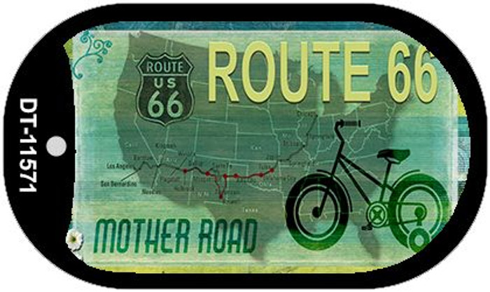 Route 66 Mother Road Novelty Metal Dog Tag Necklace DT-11571