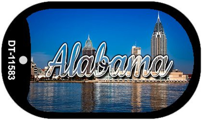Alabama City Skyline Novelty Metal Dog Tag Necklace DT-11583