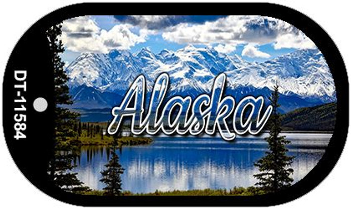 Alaska Snowy Mountains Novelty Metal Dog Tag Necklace DT-11584