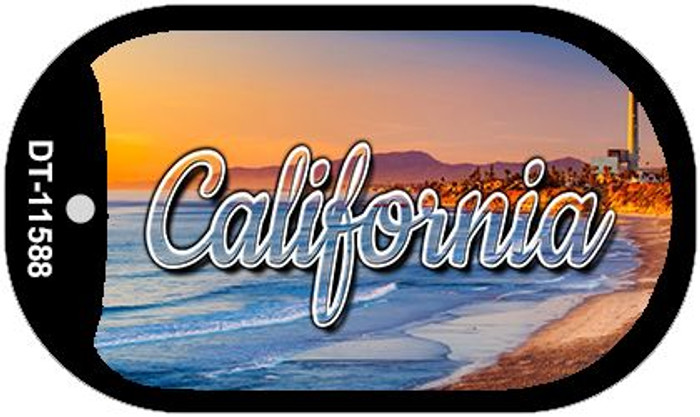 California Beach Novelty Metal Dog Tag Necklace DT-11588