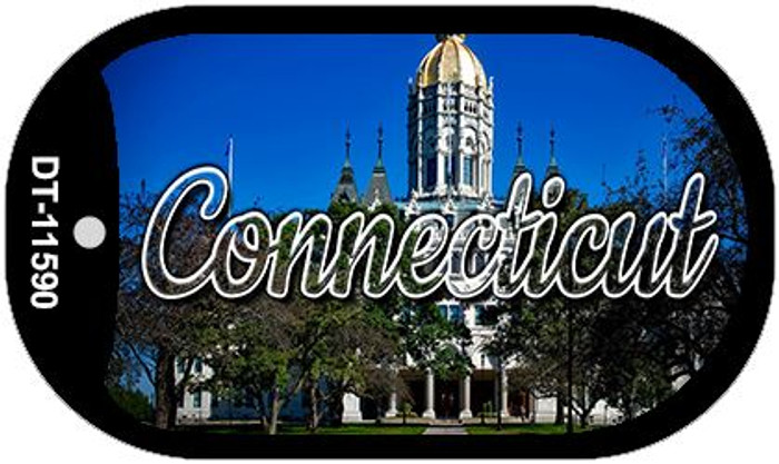 Connecticut Capital Building Novelty Metal Dog Tag Necklace DT-11590