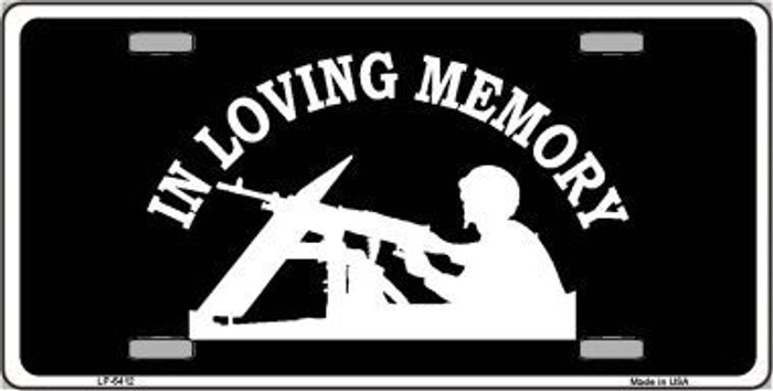 In Loving Memory Lookout Novelty Metal License Plate