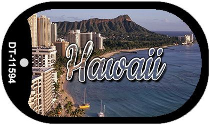 Hawaii Beach Novelty Metal Dog Tag Necklace DT-11594