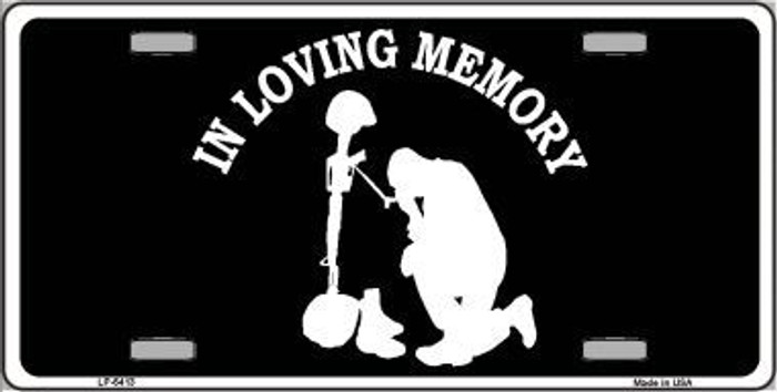 In Loving Memory Kneeling Novelty Metal License Plate