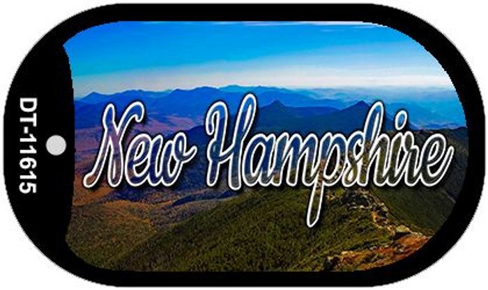 New Hampshire Mountain Range Novelty Metal Dog Tag Necklace DT-11615