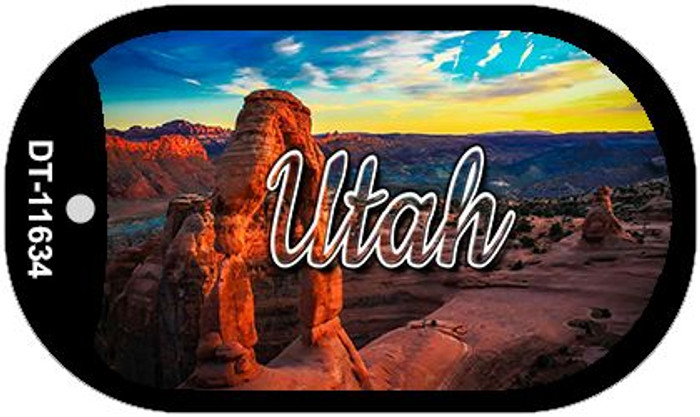 Utah Canyon Arch Novelty Metal Dog Tag Necklace DT-11634