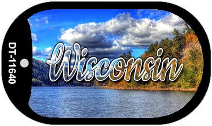 Wisconsin Colorful Lake Novelty Metal Dog Tag Necklace DT-11640