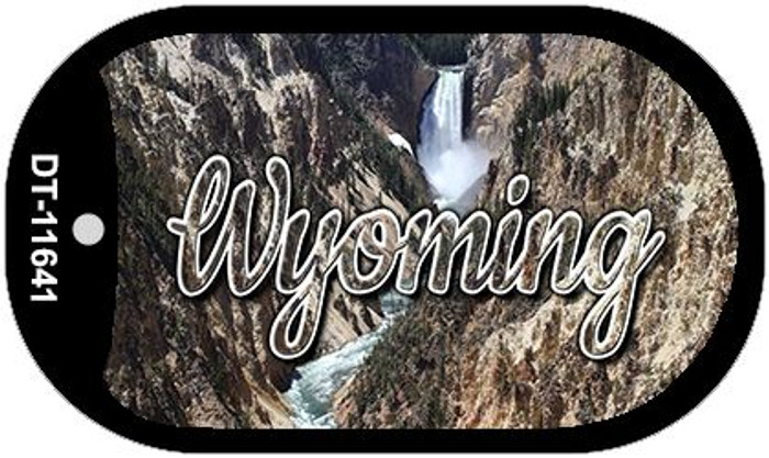Wyoming Rocky Waterfall Novelty Metal Dog Tag Necklace DT-11641
