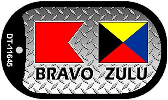 Bravo Zulu Novelty Metal Dog Tag Necklace DT-11645