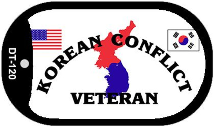 Korean Conflict Veteran Novelty Metal Dog Tag Necklace DT-120