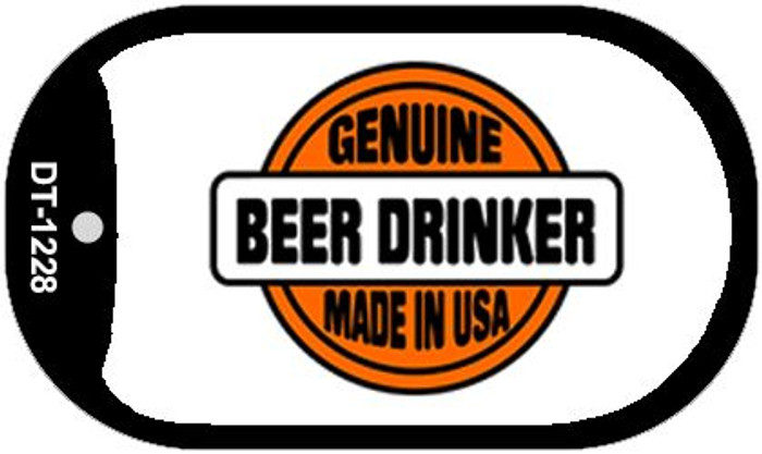 Genuine Beer Drinker Novelty Metal Dog Tag Necklace DT-1228