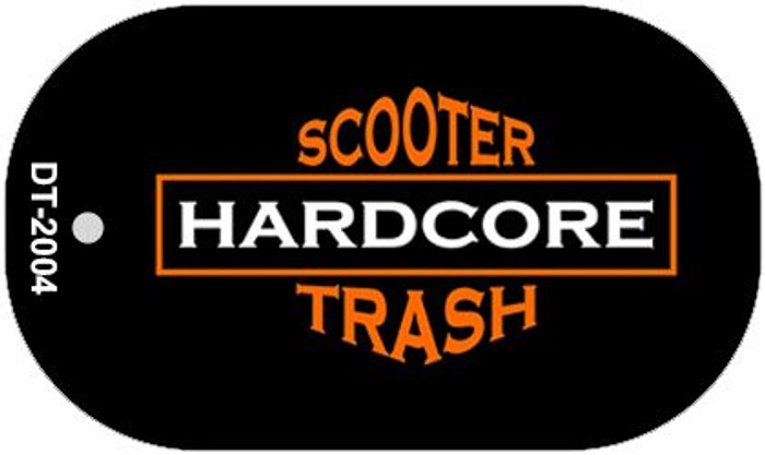 Hardcore Scooter Trash Black Novelty Metal Dog Tag Necklace DT-2004