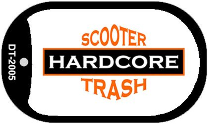 Hardcore Scooter Trash White Novelty Metal Dog Tag Necklace DT-2005
