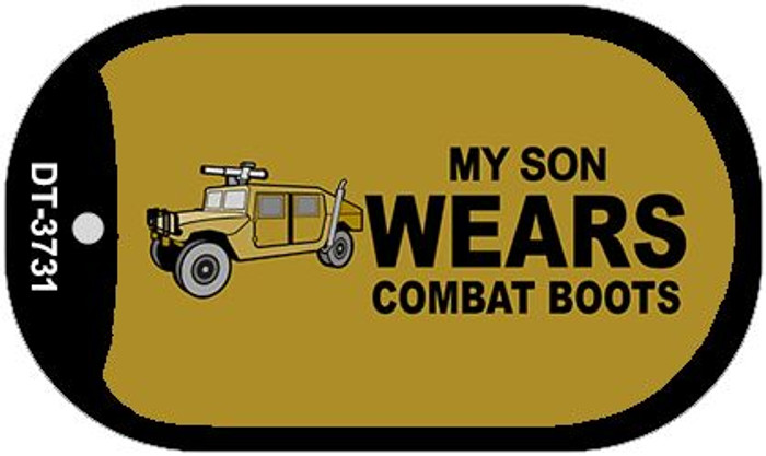 Son Wears Combat Boots Novelty Metal Dog Tag Necklace DT-3731
