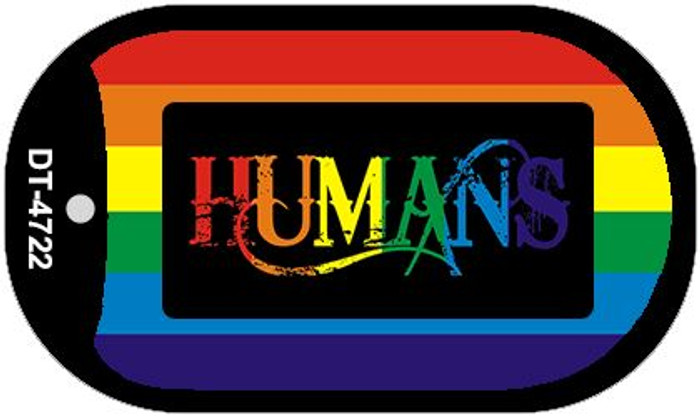 Humans Rainbow Novelty Metal Dog Tag Necklace DT-4722